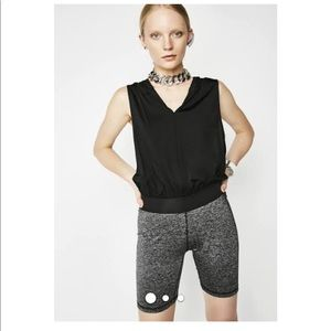 PUMA Hooded Stretch Biker Shorts Romper Jumpsuit M